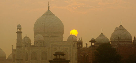This picture shows the Taj Mahal at dusk.© Keystone