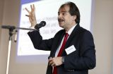This picture shows the US researcher John Ioannidis at the Séance de Reflexion of the SNSF in Berne.
