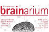 This picture shows the poster of the brainarium exhibition with a drawing of a human brain. © brainarium