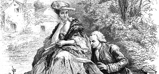 This picture shows Jacques Rousseau reads to Madame d'Epinay. © Keystone/Interfoto/Sammlung Rauch