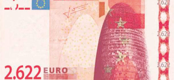 an euro banknote