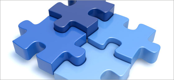 A puzzle consisting of four pieces. © Fotolia
